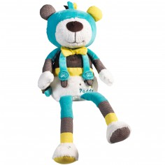 Peluche ours Paddy turquoise et vert (40 cm)