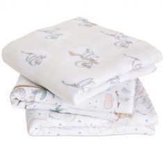 Lot de 3 langes Musy My Darling Dumbo (70 x 70 cm)