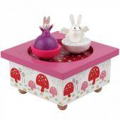 Boîte à musique magnétique ange lapin et petite fille - Trousselier