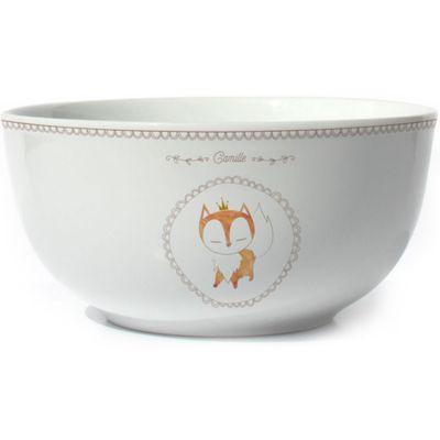 Bol en porcelaine Renard (personnalisable)