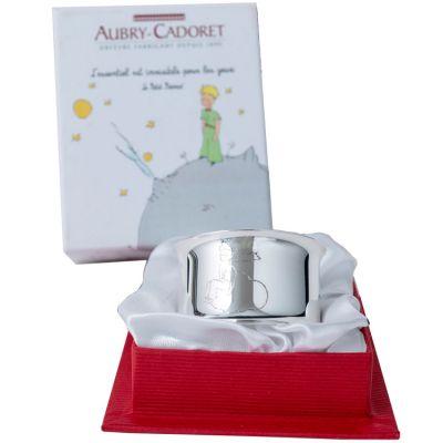 Rond de serviette Le Petit Prince nuage personnalisable (métal argenté)  par Aubry-Cadoret