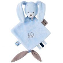 Mini doudou attache sucette Bibou le lapin (20 x 30 cm)  par Nattou