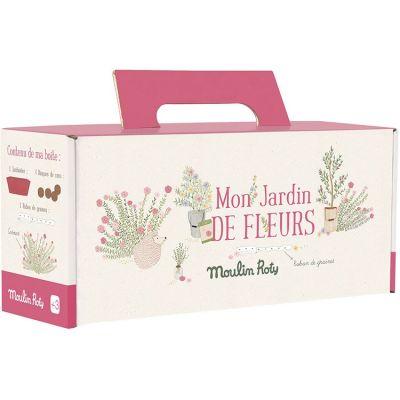 Kit jardinière rose cosmos Le Jardin du Moulin  par Moulin Roty