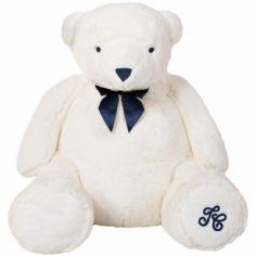 Peluche Jean l'ours blanc (60 cm)