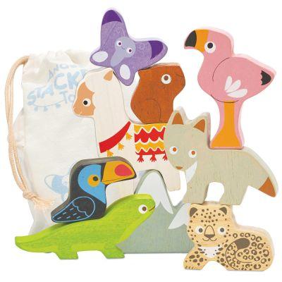 Figurines animaux des Andes en bois Petilou Le Toy Van