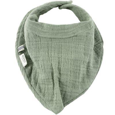 Bavoir bandana Bliss vert olive  par Les Rêves d'Anaïs