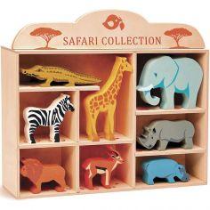 Set animaux en bois Safari