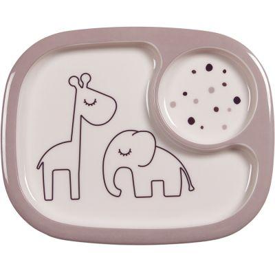 Assiette à compartiments Yummy Dreamy dots rose  par Done by Deer