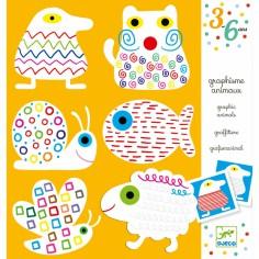 Coloriages graphiques animaux