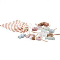 Set de bonbons en bois Bistro (16 pièces)