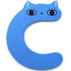 Lettre décorative C comme chat