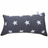 Coussin Star gris anthracite et gris (30 x 60 cm) - Baby's Only