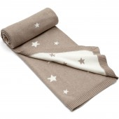 Couverture taupe coton Millie & Boris (70 x 90 cm) - Mamas and Papas