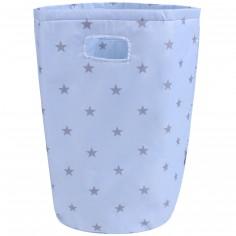 Panier à linge imperméable bleu ciel étoiles