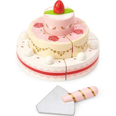 Gâteau de mariage à la fraise en bois Honeybake Le Toy Van