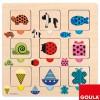 Puzzle motifs couleurs et transparences (18 pièces) - Goula