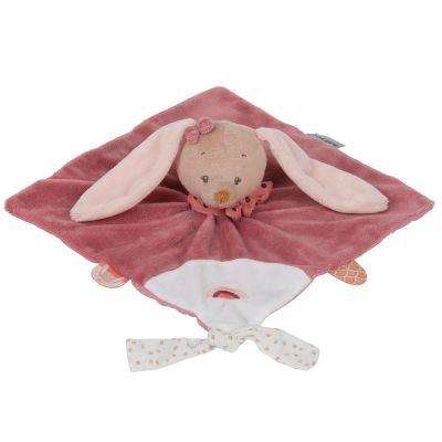 Mini doudou attache sucette Pauline le lapin  par Nattou