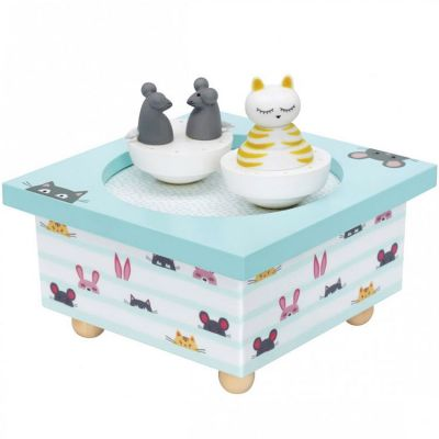 Boîte à musique magnétique chat et souris  par Trousselier
