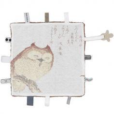 Doudou attache sucette chouette Dreaming owl