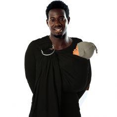 Echarpe de portage avec anneaux BB-Sling Trend coton bio black beans