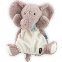 Doudou marionnette Les amis Peanut l'éléphant (30 cm)