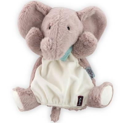 Doudou marionnette Les amis Peanut l'éléphant (30 cm) Kaloo
