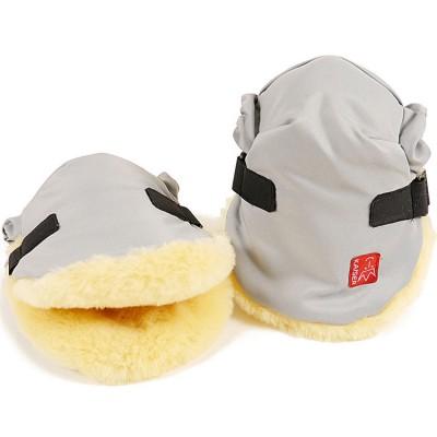 Moufles pour poussette Twoolly gris clair Kaiser