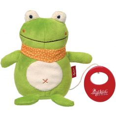 Peluche musicale grenouille (17 cm)