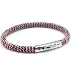 Bracelet homme Le Voyageur rouge personnalisable (acier)