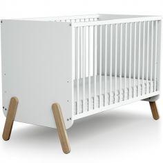 Lit à barreaux en bois de hêtre  Pirate blanc (60 x 120 cm)