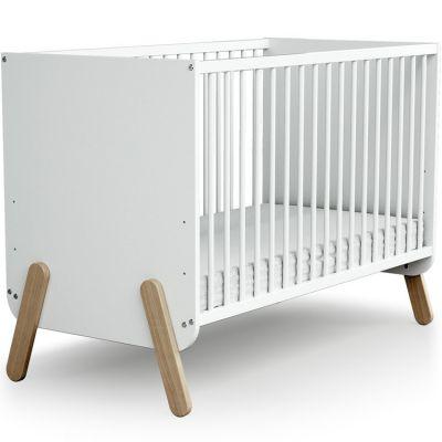 Lit à barreaux en bois de hêtre  Pirate blanc (60 x 120 cm)  par AT4