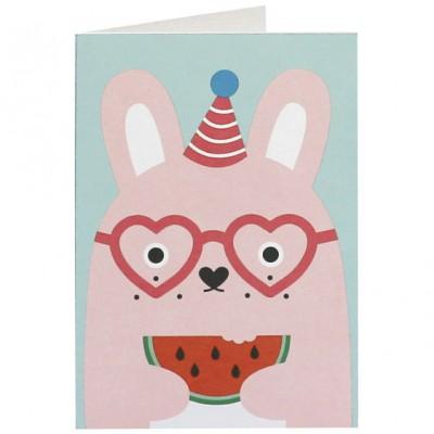 Carte Ricebonbon lapin rose  par Noodoll