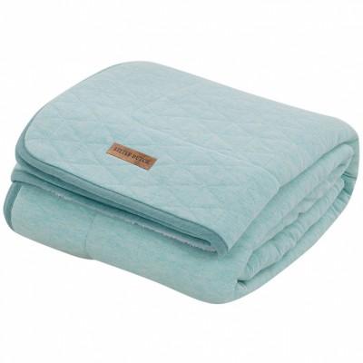 couverture de lit pure soft mint melange 110 x 140 cm. Black Bedroom Furniture Sets. Home Design Ideas