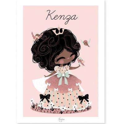 Affiche A4 La princesse aux oiseaux (personnalisable)  par Kanzilue