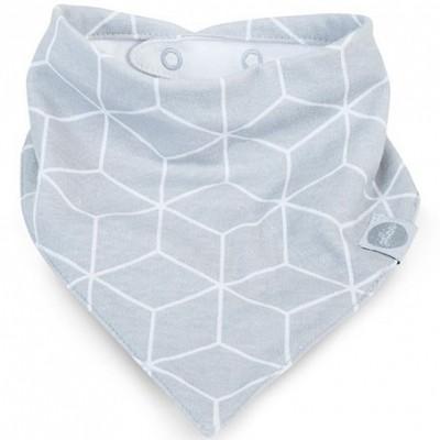 Bavoir bandana Graphic gris  par Jollein