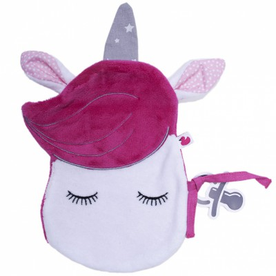 Doudou plat attache sucette Licorne BB & Co