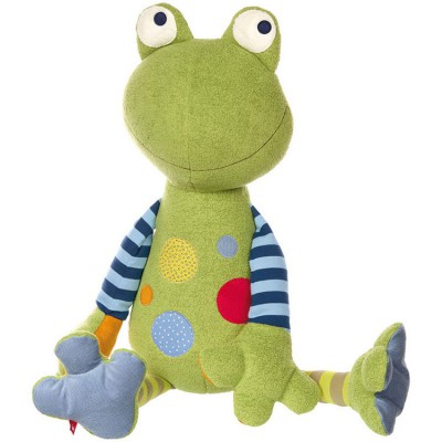 Peluche géante grenouille Patchwork Sweety (80 cm) Sigikid