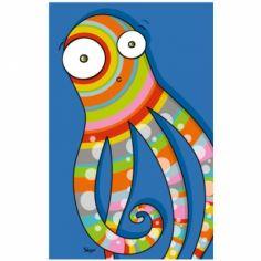 Tableau pieuvre (14 x 22 cm)