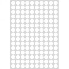 Stickers ronds blancs (29,7 x 42 cm)
