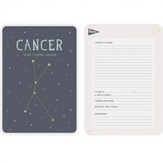 Affiche signe astrologique Cancer (21,4 x 32,5 cm)
