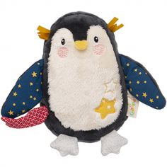 Peluche musicale pingouin Les Nanouks (14 cm)