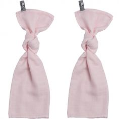 Lot de 2 langes rose pâle (60 x 70 cm)