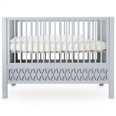 Lit bébé à barreaux Harlequin gris (60 x 120 cm)