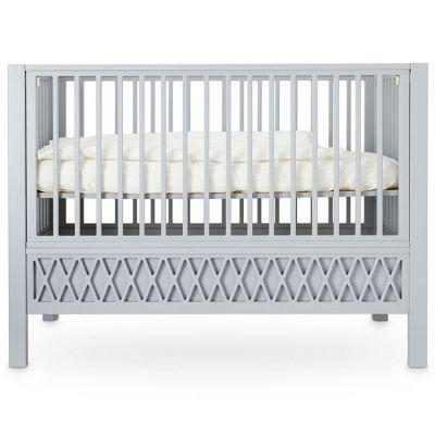 Lit bébé à barreaux Harlequin gris (60 x 120 cm) Cam Cam Copenhagen