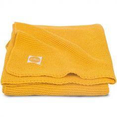 Couverture Basic knit jaune (75 x 100 cm)