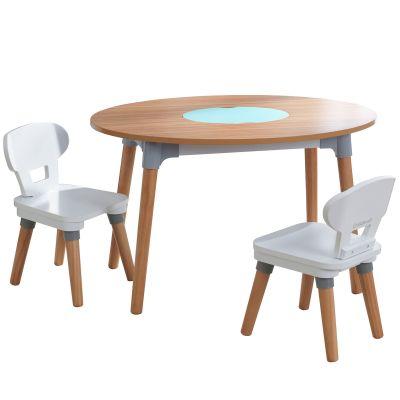 Ensemble table avec rangement et 2 chaises Mid-Century Modern  par KidKraft