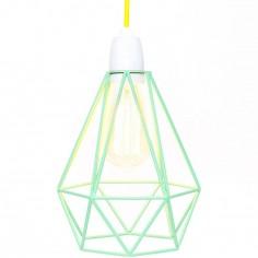 Lampe baladeuse Diamond 1 vert menthe et jaune