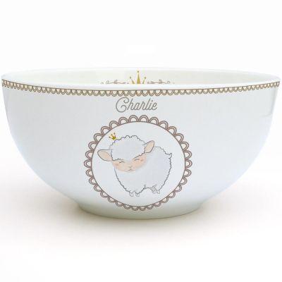 Bol en porcelaine Mouton (personnalisable)  par Gaëlle Duval