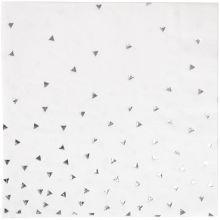 Serviettes triangles argentés (16 pièces)  par My Little Day