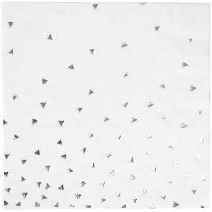 Serviettes triangles argentés (16 pièces)